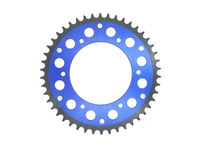 Steel and aluminum combination sprocket